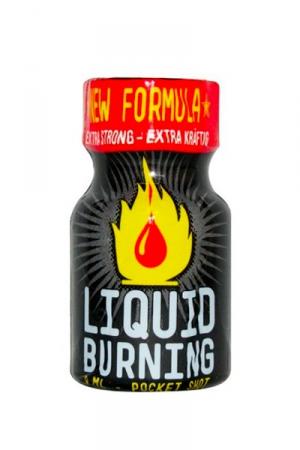 Poppers Liquid Burning 9 ml - Arôme extrêmement puissant à base de nitrite de Pentyle, en flacon de poche de 9 ml.